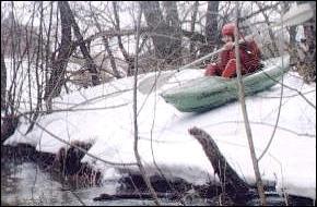 Река Коломенка, апрель 1999 г.