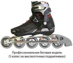 Профессиональная беговая модель роликовых коньков