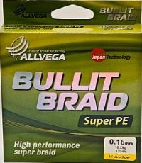 Рыболовная леска ALLVEGA Bullit Braid 135м 0,16 мм 10.2 кг BB135GR16