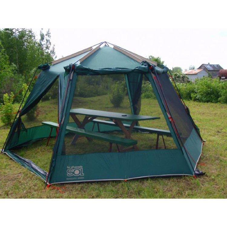 Тент-шатер Sol Mosquito SLT-033.04 зеленый купить за 11 600 руб. в интернет-магазине ЗаТуманом.ру